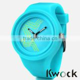 2015 New Fashion Jelly Silicon Kwock Watch