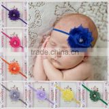 2015 fashion baby hair Chiffon flower accessories for kids MY-AD00012