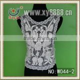 2013 New Fashion Ladies Embroidered Lace Cropped Tank Top/Sleeveless Lace Top/Crochet Lace Top