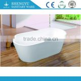 China style white bathtub 1700mm oval marble bathtub freestanding bathtub