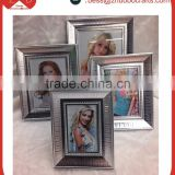 2015 new style plastic photo silver photo frame for cheap wholesale