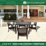 High Quality Wholesale Wicker Patio Rattan Outdoor Garden Tables and Chairs Dining Furniture for Home Garden