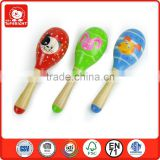 small children cute christmas musical toys soft voice educational learning games toys wooden pad printing maraca