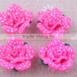 Wow!!Wholesale hotpink fashion loose polymer flower shaped beads in bulk !!wholesalepolymer flower beads for jewelry!