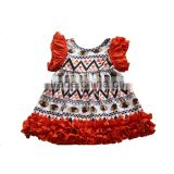 Best price autumn thanksgiving day turkey outfits baby dress girls cotton dress                                                                         Quality Choice