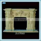 green marble interior morden decorative fireplace mantel