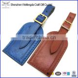 wholesale quality pu leather luggage strap bag name tag made in china
