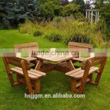 outdoor wooden beer table and bench set