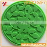 FDA Customs design charming non-slip durable transparent silicone tea cup coaster silicone cup mat