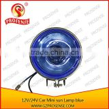 12V Blue Tube Glass Mini Sun Car Lamp (Blue spot light for forklift)