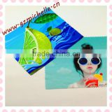 MIC4048 Guangzhou microfiber Heat transfer sunshine swimming printed cleaning cloth for eyeglass phone ipad lens jewelry