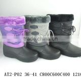 2013 winter snow boots with man-made fur lining