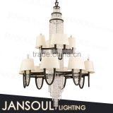 JANSOUL 2016 most popular Russia designer recommend custom-made living room chandelier lamp crystal fancy ceiling &wall lights