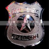 Metal police cop badge pin fancy dress costume accessory                                                                         Quality Choice