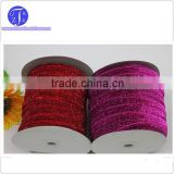 Hot sale red purple Sparkle Glitter Velvet Ribbon 10mm Headband Clips Bow Decoration                                                                         Quality Choice