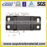 customized railroad casting tie plate for wooden sleeper