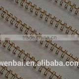 Double loop wire twin ring binding wire