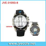 2013 New arrival HD 720P watch camera,IR Night vision watch camera,Wireless watch hidden camera JVE-3105G-8 CE FCC RoHS