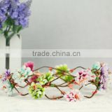 hot sale Artificial Flowers Handmade head wreath for wedding bridal headdress and girls summer holiday