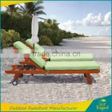 Protable solid wood swimming poor wooden sun lounger beach chair with 2 years warranty