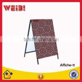 Outdoor Metal Iron Sidewalk Sign Folding Frame