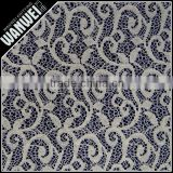 6 Discount Hot Sales High Quality New heather grey hemp flowers design knitting fabric wholesale 7091