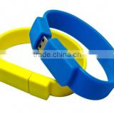 2014 new product wholesale silicon wristband cheap bracelet usb flash drive free samples made in china