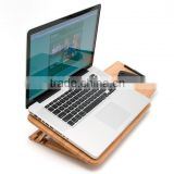 2015 new and original design Bamboo Expandable and Adjustable Laptop Stand folding laptop desk wholesale                                                                         Quality Choice
