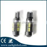 2016 newest Aluminum housing 10 smd no free canbus led t10 5630 bulb,auto led bulb t10 for car