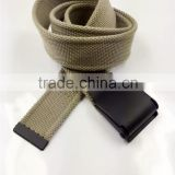 cotton canvas belt with iron buckle