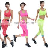 Wholesale Custom Quality Womens Workout Yoga Set Sport Gym Clothes Fitness Sportswear for Ladies Crop Top and Shorts
