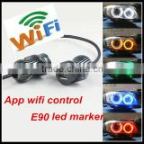 wifi rgb for bmw e90 led headlight 20w wifi control rgb angel eyes for bmw e90 color changing led angel eyes halo ring