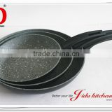 FORGED ALUMINUM ECONOMIC STONE NON STICK FRYING PAN WITH MARBLE COATING
