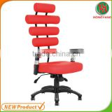 Red pu health office chair
