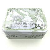 New style hot saled China wholesale colourful special empty metal tea tin box                                                                         Quality Choice