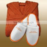 High quality colored bathrobe slippers set for spa