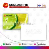 high quality plastic material wedding card/business card /membership card with custom design