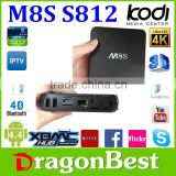M8S android tv box quad core 2gb ram 8gb rom support wifi kodi youtube Pre install free play store app
