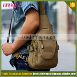 Outdoor sport Camping hiking trekking sling chest bag woodland digital military tactical shoulder bag