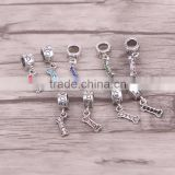 Dog Bone Dangle Bead Fits European Style Charm Bracelets & Necklaces