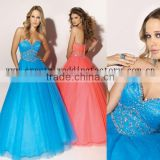 2012 beaded bust custom-made formal ball gowns with jacket CWFab3553