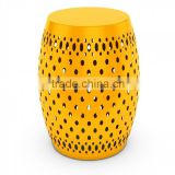 hammer metal stool /yellow/ aluminium table/ outdoor furniture manufacture/colored stools