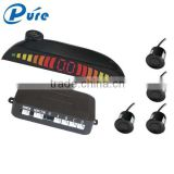 LED numeral and color display car parking sensor assist system without reverse camera with 4 sensors