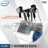 Bio lifting cavitation weight loss device,ultrasound&rf&bio&liposuction& face cooling