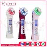 High Quality Rechargeable Hot And Cold Vibration Face Beauty Gadget Beauty Salon Steam Device For Anti-Wrinkle