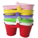 Twin Kids Double Shaped Metal Beach Pail Wholesale