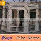 high quality big garden white marble used gazebo for sale NTMG-246S