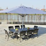 Luxury aluminium outdoor garden furniture cast aluminum dining table & chair set for home garden