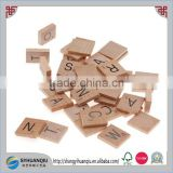 Cheap and unfinished handmade 100 Wooden Scrabble Tiles