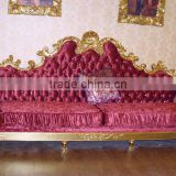 Antique Luxury Sofa Set Customized Size KTV Room Gold Foil Sofa Set For Hotel And Villa (BF09-)
